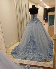 Appliques Ball Gowns Prom Dresses,Lace Up Prom Dresses,Blue Prom Dresses,Quinceanera Dresses,Sweet 1 on Luulla Source by goddessbug Dresses Cute Prom Dresses, Pretty Dresses, Homecoming Dresses, Beautiful Dresses, Ball Gowns Prom, Ball Dresses, Xv Dresses, Chiffon Dresses, Lace Evening Dresses