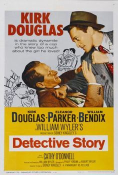 A great film noir, Detective Story is a 1951 film, which tells the story of one day in the lives of the various people who populate a police detective squad. I think it's one of Kirk Douglas best films. It also features George Macready, Eleanor Parker, William Bendix, and Cathy O'Donnell. Both Lee Grant and Joseph Wiseman perform in their film debuts.