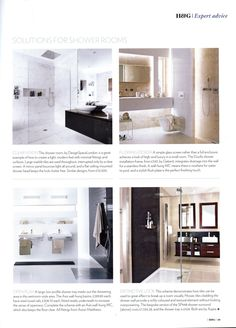 Light bounces around the polished surfaces of this Shower Room by http://designspacelondon.com Homes & Gardens May 2013