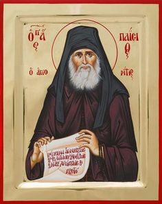 Saint Paisios of Mount Athos Byzantine Icons, Byzantine Art, Religious Icons, Religious Art, The Holy Mountain, Roman Church, Faith Scripture, Saints And Sinners, Best Icons