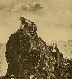 Przejście przez Konia na Lodowym - Górale i Tatry na starych fotografiach