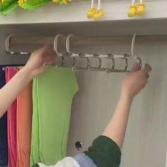 Cheap Closet, Closet Rod, Master Closet, Closet Storage, Jean Organization, Clutter Organization, Hanging Pants, Hanging Clothes, Apartment Checklist