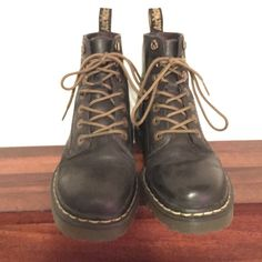 All black combat boots Slightly used combat boots in good condition one shoe lace tip is missing Dr. Martens Shoes Combat & Moto Boots