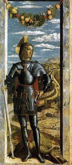 St. George - Andrea Mantegna. c.1460. Tempera on panel. 66 x 32 cm. Gallerie dell'Accademia, Venice, Italy.