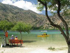 Explore the lake of Kournas on a seabike