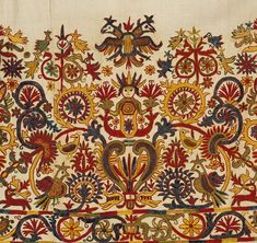 Greek embroidery from Century - Detail from a dress, Crete. From Benaki Museum Cross Stitch Embroidery, Embroidery Patterns, Hand Embroidery, Machine Embroidery, Arabesque, Benaki Museum, Contemporary Decorative Art, Greek Pattern, Medieval