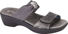 Metal Leather/Gray Stretch