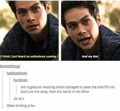 Stiles tricking the fox