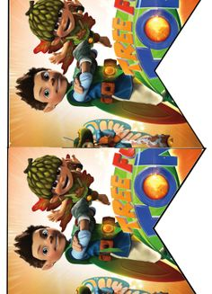 FREE Tree Fu Tom Birthday Party cupcake toppers, banner, and water bottle label Printables