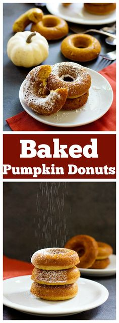 Baked Pumpkin Donuts are so simple and can be made in less than an hour using basic ingredients that are already in your pantry. Serve with a cup of coffee or tea for a happy afternoon!
