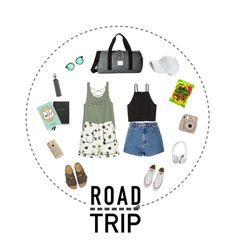 """Summer Road Trip Essentials"" by lyn-jai ❤ liked on Polyvore featuring Topshop, Glamorous, Converse, Birkenstock, Herschel Supply Co., rag & bone, blomus, Smythson, ECCO and Agent 18"