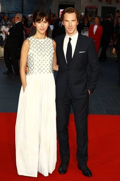 Pin for Later: Catch Up on All the Red Carpet Action at the London Film Festival Sophie Hunter and Benedict Cumberbatch At the gala premiere of Black Mass.