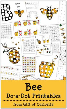 free bee do a dot printables 20 pages of bee dot worksheets for - Printables Kids