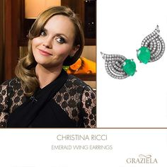 The Amazing Christina Ricci in our Emerald Wind Earrings on Watch What Happens Live.