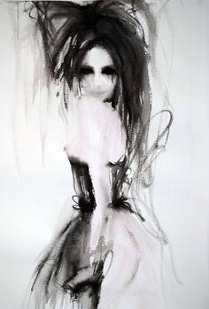 "Saatchi Art Artist Fiona Maclean; Painting, ""Natalia - from the Ringmasters Teaparty in Wonderland"" #art"