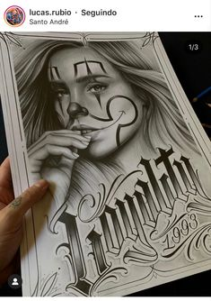 Chicano Art, Female Art, Black And Grey, Lettering, Writing, Tattoos, Pencil Drawings, Ink, Roses