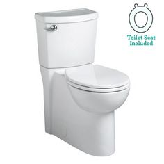 View the American Standard 2988.101 Cadet 3 Round-Front Two-Piece Toilet with Concealed Trapway, EverClean Surface, PowerWash Rim and Right Height Bowl - $325