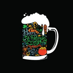 St. Patricks Beer : Vector Art