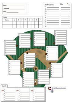 softball roster template