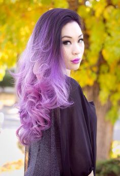Purple Hair ombre. Doing my hair like this in the winter.