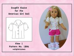 Hey, I found this really awesome Etsy listing at https://www.etsy.com/listing/218776735/1806-open-neck-blouse-american-girl-doll