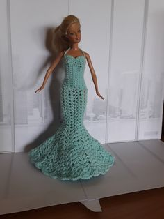 Barbie Crochet Dress Barbie Dress, Crochet, Diy, Dresses, Fashion, Baby Dolls, Doll Clothes, Creative Crafts, Creativity
