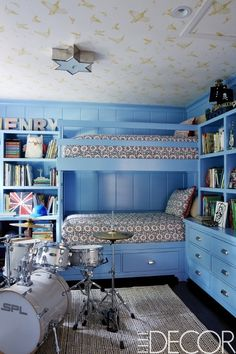 Tour Minnie Driver's Eclectic Hollywood Home Lovely Nails lovely nails pawleys island Minnie Driver, Hollywood Hills Homes, Bunk Rooms, Bunk Beds, Twin Beds, House On A Hill, Celebrity Houses, Home And Deco, Kid Spaces