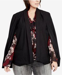 Rachel Roy Trendy Plus Size Tuxedo Cape