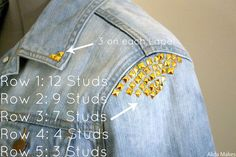 DIY denim studded jacket – refashion