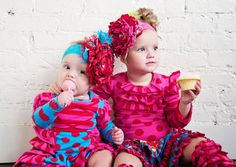 Hot Pink & Teal Boutique Headband is picture perfect!!!