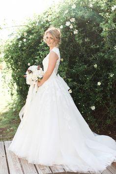romantic garden bridal portraits | Kristina Ross Photography on @glamourandgrace via @aislesociety