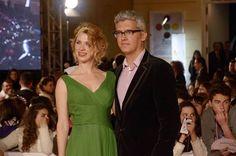 Junto a la actriz Aïda Balmann (The Extraordinary Tale,José F. Ortuño, Laura Alvea. 2013, España)   en la alfombra roja del Festival de cine español de Málaga 2014.