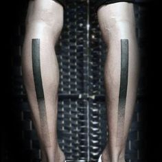 Back Of Legs Unique Dotwork Black Lines Male Tattoos
