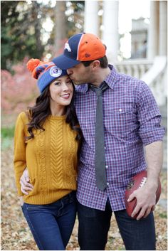 I WILL DO THIS!  Football Engagement Session by Laura Murray Photography via One Hitched Lane  @LMurrayPhoto @onehitchedlane