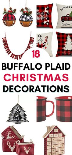 Get the farmhouse Christmas look with these epic buffalo plaid decorations!