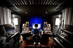 Day 241 - Elliot's man cave studio    Music Studio