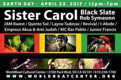 #sundayfunday #earthday #sandiego #worldbeatcenter #sistercarol #blackslate #robsymeonn #familyvibes #allages #outdoors #educate #elevate #uplift #righteousstreet #sandiego #sandiegoconnection #sdlocals #sandiegolocals - posted by Dub Carlos https://www.instagram.com/dubcarlos619. See more post on San Diego at http://sdconnection.com
