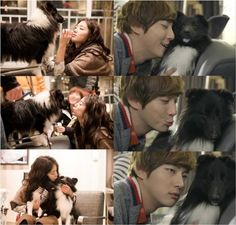 Yoon Shi Yoon gets ignored by 'Hippo' the dog