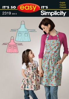 Pattern for It's So Easy Misses' & Child's Apron | Simplicity 2319