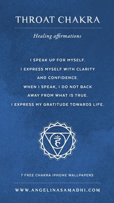 Throat Chakra Healing Affirmations – chakra affirmations, chakras, energy, healing, blockages, affirmations, positive affirmations, growth, om