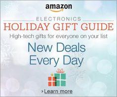 Shop Amazon's Electronics Holiday Gift Guide - New Deals Every Day http://www.amazon.com/b/?_encoding=UTF8&camp=1789&creative=390957&linkCode=ur2&linkId=VL4PB7KN7BIDWNEB&node=7258612011&tag=wonderfulrota0013-20&linkId=5IU2OOPPHSRXZAJ4