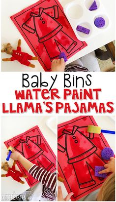 This water painting activity is great for learning the color red and it is a completely baby safe way to paint. Baby Bins are perfect for learning with little ones between months old. Toddler School, Toddler Art, Toddler Books, Tot School, Toddler Crafts, Color Red Activities, Painting Activities, Red Crafts, Color Crafts
