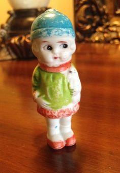 Vintage Bisque Frozen Charlotte Penny Doll Japan