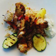 レシピとお料理がひらめくSnapDish - 0件のもぐもぐ - #Chicken #Kabob with Grilled #Vegetables and Basmati #Rice by sooprcoolchica