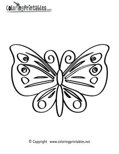 coloring pages of mandala to print   Butterfly Coloring Page - A Free Nature Coloring Printable