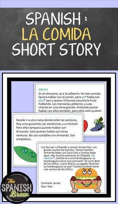 TPRS Spanish short story about food using high frequency verbs w Digital