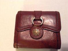 "Authentic Vintage"" ANNA SUI"" Dark Brown Leather Wallet   #Clutch"