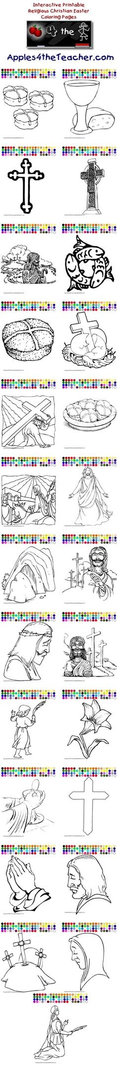 Printable interactive Easter coloring pages, Easter coloring pages ...