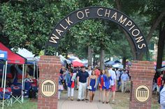 The Walk of Champions in the Grove at Ole Miss in Oxford, MS
