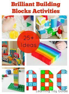 Brilliant Building Blocks Activities. Includes ideas for Mega Bloks, Duplo Bricks, Magna Tiles and Pattern Blocks. Lego Activities, Rainy Day Activities, Craft Activities For Kids, Preschool Activities, Kindergarten Inquiry, Lego Games, Steam Activities, Creative Activities, Activity Ideas